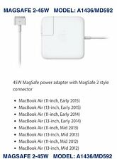 New Genuine Original APPLE MacBook Air Mag 2 45W Power Adapter Charger A1436