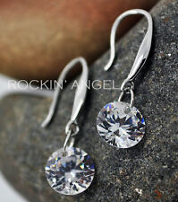 925 Silver Plated Crystal Drop Dangle Earrings  Truly Stunning Ladies Gift