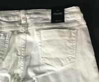Women's NWT White Distressed Jeans Size 8 Nanette Lepore Flare New With Tags