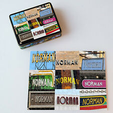 Personalized Puzzle featuring the name NORMAN in actual sign photos