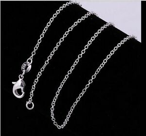 Wholesale 1PCS 16-30inch Jewelry 925 Sterling Silver Plated ROLO Chain Necklaces
