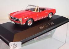 Ixo Altaya 1/43 Mercedes Benz 230 SL Roadster rot (1963) in Plexi-Box #180