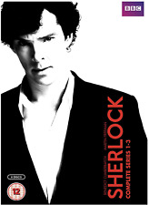 Sherlock - Series 1-3 - Complete (DVD, 2014, 6-Disc Set, Box Set)