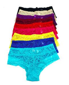 Regular Plus size Lot 12 Women Underwear Lace Briefs Hipster Bikini Panty S-3XL
