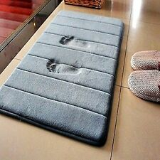 "New Gray Anti-Slip Bath Mat Soft Memory Foam Bathroom Carpet Rug 23.6""L x 15.7""W"