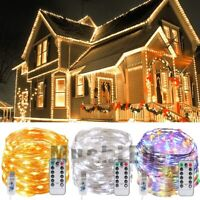 Lot 10M 100 LED USB Copper Wire Fairy String Light W/ Remote Control Xmas Lamp