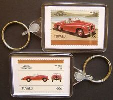 1950 JOWETT JUPITER Car Stamp Keyring (Auto 100 Automobile)