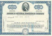 "Aktie USA ""AGI"" American General Insurance Company, George Washington Vignette"