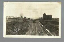 Buda ILLINOIS RP 1910 DEPOT Train Station nr Princeton Kewanee C.B. & Q. RR CB&Q