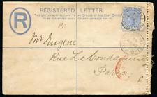 TRINIDAD (1065): 1892 Formula PSRE to Paris/Reg cancel/cover
