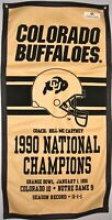 Colorado Buffaloes 1990 Football NCAA National Championship Banner
