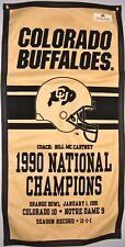 Colorado Buffaloes 1990 Football Ncaa National Championship Banner