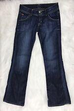 Hudson Women's Jeans Classic Petite Signature Bootcut Dark Denim Elm Wash Sz 27