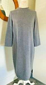 Josephine & Co Amsterdam Tunic Grey chevron Dress Midi Winter Euro40 UK Size 14