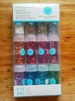 MARTHA STEWART CRAFTS Tinsel Glitter Set- Twelve 0.22 Oz Vials - New!
