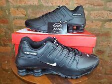 Nike Shox NZ EU Mens Running Shoes Black/White/Black 501524-091 NEW