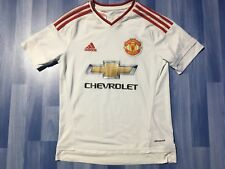 BOYS 13-14 YEARS MANCHESTER UNITED FOOTBALL SHIRT-SHORTS-SOCKS 2015-2016 AWAY