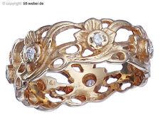 "Memory Ring ""Brillanten"" Florale Elemente 585er Gelbgold"