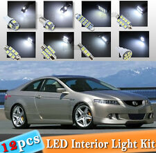 12-pc White LED Interior Light Bulbs Package Kit Fit 2003-12 Honda Accord Coupe