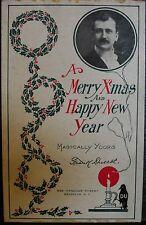 Frank Ducrot Christmas Postcard, Ca. 1900, Signed