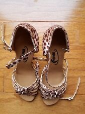 Leopard Women Ballroom Dance Shoes size 5.5