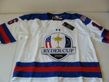 NWT MEN UNDER ARMOUR USA 2016 UNITED STATES RYDER CUP HOCKEY JERSEY NEW $265!