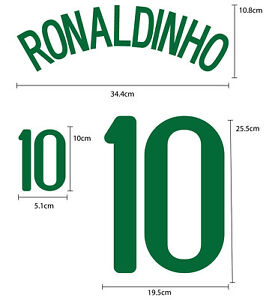 BRAZIL Home 2008-10 PU NAME NUMBER FOOTBALL SOCCER PRINT EXCELLENT QUALITY