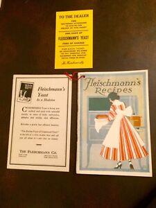 ORIGINAL 1917 Fleischmann's Recipes Booklet GREAT Cond. w/ Amazing Color Lithos