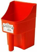 Little Giant Feed Scoop Heavy Duty Stackable Feed Scoop 3 Quart Red