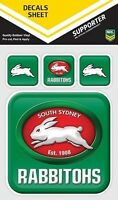 620057 SOUTH SYDNEY RABBITOHS NRL SET OF 4 APP ICON DECALS CAR STICKERS ITAG
