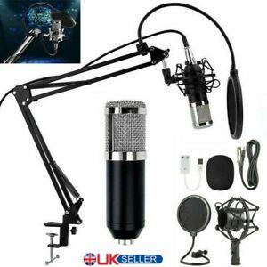BM800 Condenser Microphone Mic Kit Live Studio Sound Recording Mount Boom-Stand