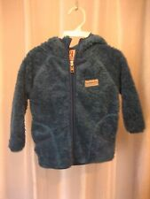 Avalanche Infant Unisex Thermal Layer Front Zipper Hooded Blue Jacket Sz 12M NW