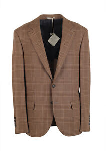 New Cucinelli Beige Sport Coat Size 52 / 42R U.S. Wool Linen Jacket Blazer