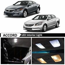 White Interior + License Plate LED lights Package Kit for 2003-2012 Honda Accord