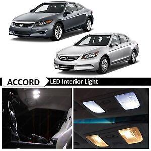 Full White Interior LED Lights Bulbs Kit Fits 2003-2012 Honda Accord Coupe Sedan