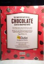 Chocolate Scented Christmas Wrapping Paper Gift Wrap Scratch Sniff NEW SEALED