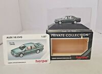 "HERPA - 1:87 DIECAST - AUDI V8 EVO ""GREEN"" - 100502 - BOXED"