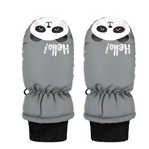 New Toddler Kids Baby Boys Girls Ski Gloves Waterproof Outdoor Warm Snow Mittens