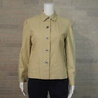 DLG Petite 6P Khaki Beige Linen Blend Tailored Blazer Jacket