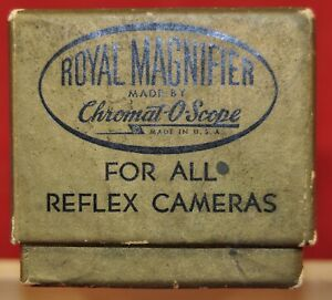 Vintage Royal Magnifier Made by Chromat-O-Scope w/original box