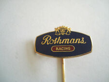 INSIGNE EPINGLE ROTHMANS RACING FORMULE 1 PILOTE DE COURSE AUTO MOTO