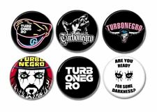 6 x TURBONEGRO buttons (badges,pins,punk,retox,turbojugend,heavy metal)
