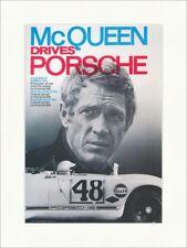 McQueen drives Porsche 908 Schauspieler Rennfahrer Kunstdruck Plakatwelt 081