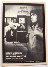 WHITESNAKE BERNIE MARSDEN 1981 POSTER ADVERT ABOUT TIME TOO