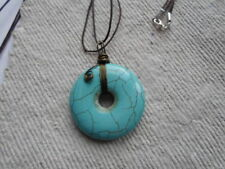 Handmade ~ Necklace ~ Wire Wrapped Howlite Pendent