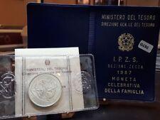 Repubblica,500 Lire 1987 Zecca Famiglia Argento Silver box originale Fdc [t11]