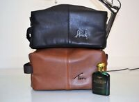 Mens wash bag Groom men gift Nuhide leather Toiletry dopp kit groomsmen gift