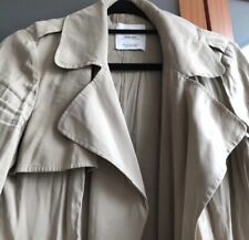Ladies Mango trench coat, camel/beige. Size M/10, used and without tie