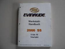 Werkstatthandbuch Evinrude Außenborder 5 6 8 9.9 15 PS 4-Takt Modelljahr 2000