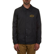 Volcom Weird War Slim Track Jacket Coat Acid Wash Grey in Size S,XL